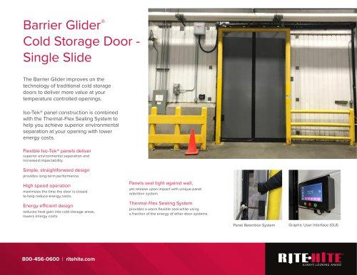 Barrier Glider® Cold Storage Door - Single Slide