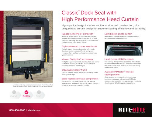 Classic™  Dock Seal with High Performance Head Curtain
