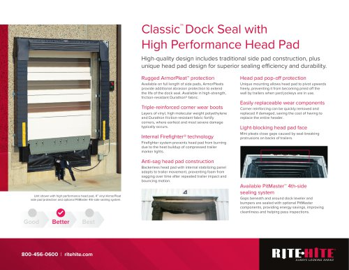 Classic™  Dock Seal with High Performance Head Pad