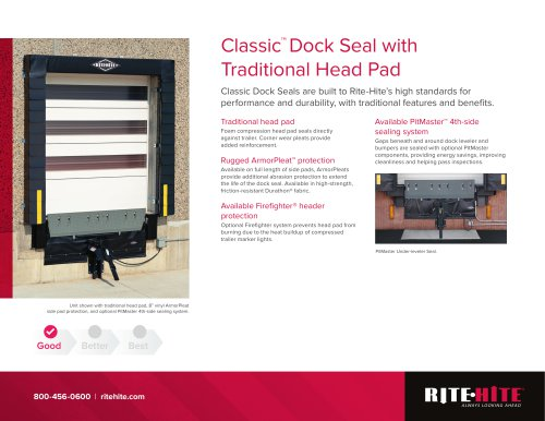 Classic™  Dock Seal with Traditional Head Pad