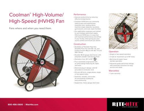 Coolman HVHS fan