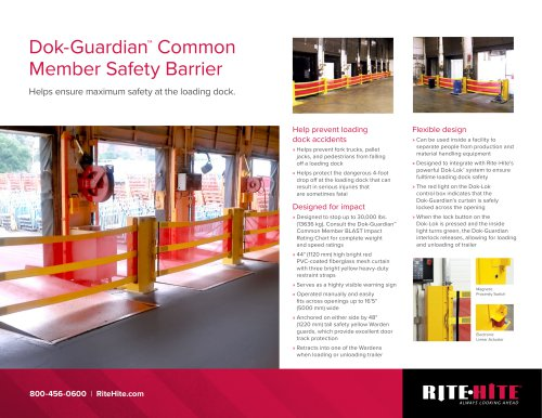 Dok-Guardian™ Common Member Safety Barrier