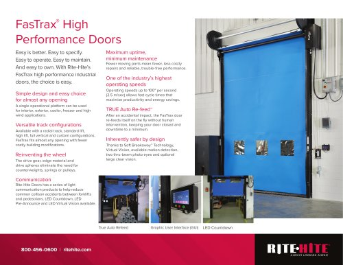 FasTrax®  High Performance Doors