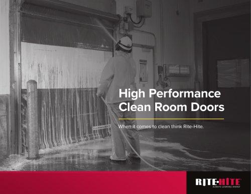 High Performance Clean Room Doors