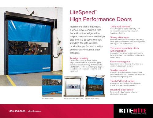 LITE SPEED High-Performance Doors