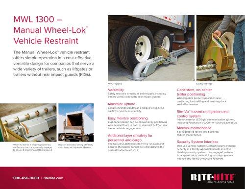MWL 1300 – Manual Wheel-Lok™ Vehicle Restraint