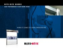 RITE - HITE  DOORS HIGH PERFORMANCE CLEAN ROOM DOORS