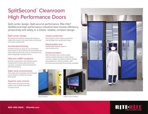 SplitSecond™  Cleanroom High Performance Doors