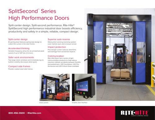 SplitSecond™  Series High Performance Doors