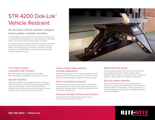 STR-4200 Dok-Lok Restraint