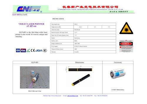 405 nm violet laser pointer