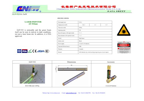 532 nm green laser pointer from CNI