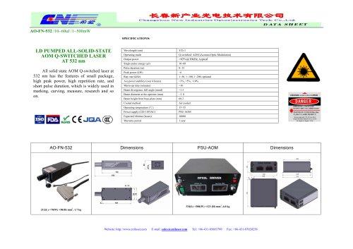 AO-FN-532 /10~60uJ /1~500mW