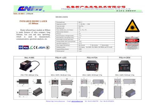 CNI/Infrared diode laser/ MDL-H-880/spectrum analysis