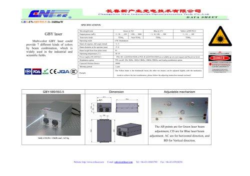CNI/Multi-color GBY laser/industrial,scientific fields