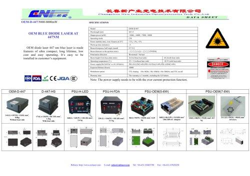 CNI/OEM diode laser 447 nm blue laser/OEM-D-447/5000-8000mW