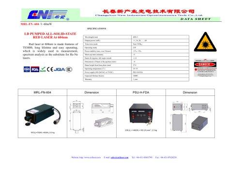 CNI/Orange DPSS laser/ MRL-FN-604/spectrum analysis
