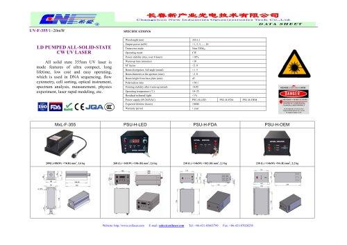 CW ultraviolet laser at 355 nm