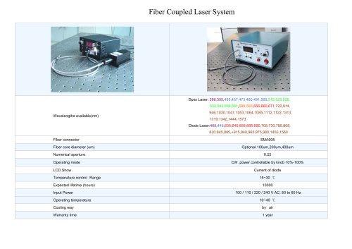 Fiber Coupled Laser System