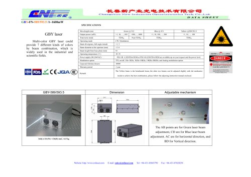 GBY laser systems