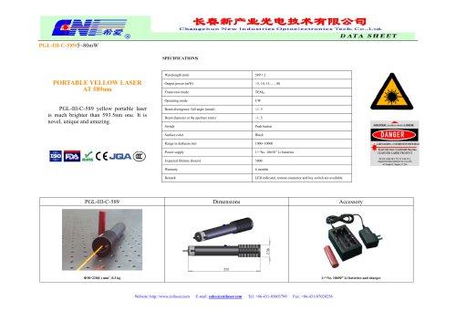 Portable Laser PGL-III-C-589
