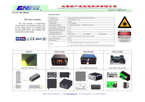 RG laser / Yellow laser system