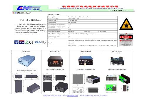 RGB-671 full color RGB laser / White laser system