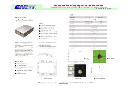 YACTO-FL Series High Power Femtosecond Laser