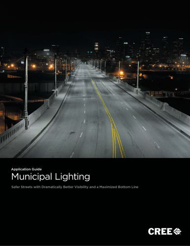 Application Guide : Municipal Lighting - Safer Streets with Dramatically Better Visibility and a Maximized Bottom Line