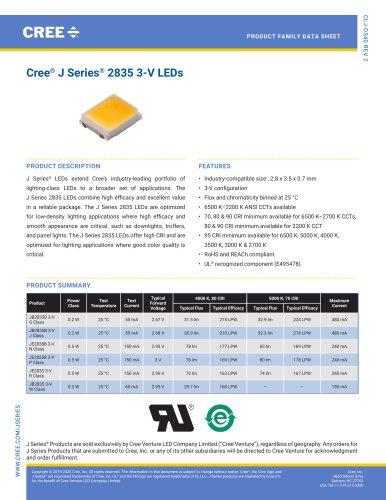 Cree® J Series® 2835 3‑V LEDs
