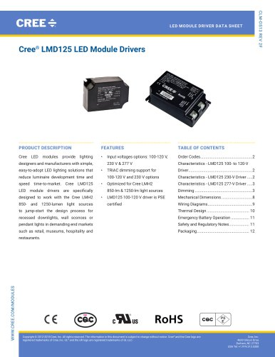 Led Light Catalog Cree Pdf Catalogs