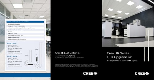 Cree UR Series LED Upgrade Kit