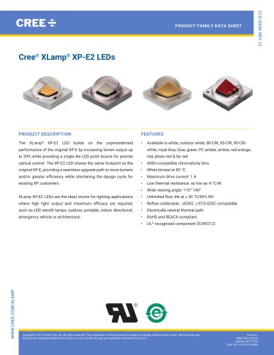 Cree® XLamp® XP-E2 LEDs