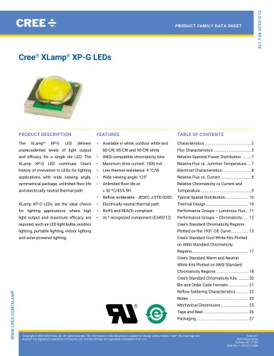 Cree® XLamp® XP-G LEDs