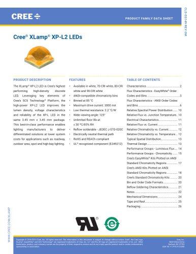 Cree® XLamp® XP-L2 LEDs