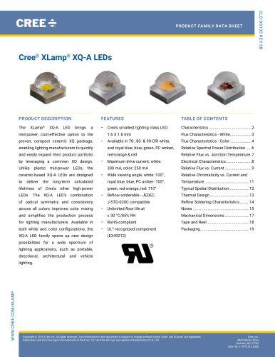 Cree ®  XLamp ®  XQ-A LEDs