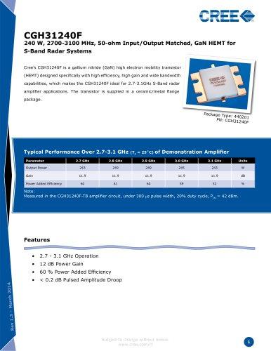 Packaged Discrete Transistors  CGH31240
