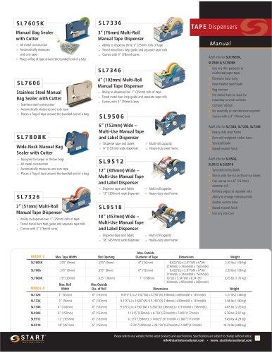 TAPE Dispensers Manual