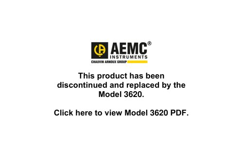 3610 3-Point Ground Resistance Testers