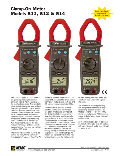 511 Clamp-On Meters