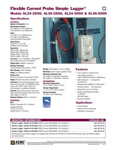 AL24-2500 Flexible Current Probe Loggers