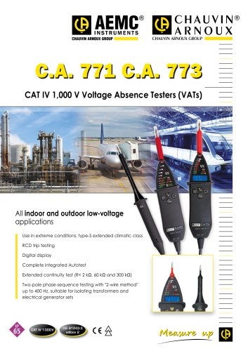 C.A. 771 and C.A. 773 Brochure