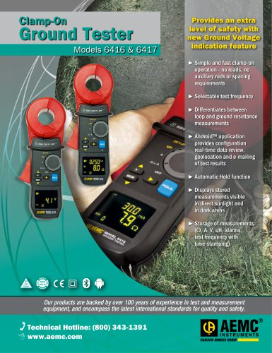 Clamp-on Ground Testers Model 6416 & 6417