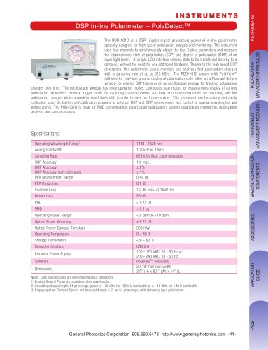 DSP In-line Polarimeter – PolaDetect™