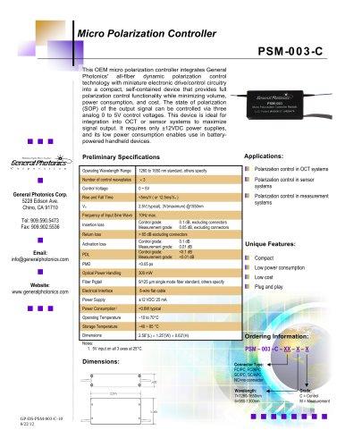 Micro Polarization Controller