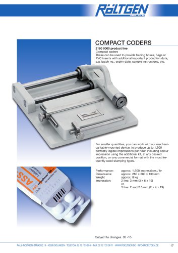 Compact Coders