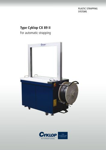 Type Cyklop CX 89 II For automatic strapping