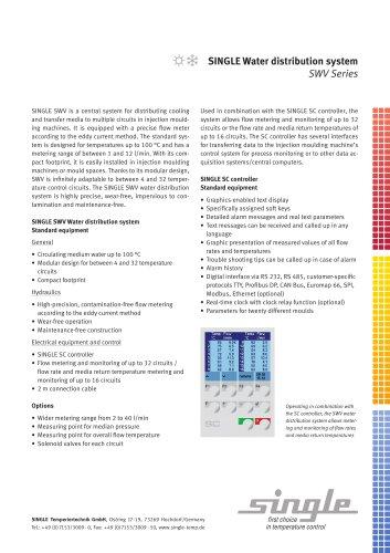 Data sheet Water Distribution System SWV - SINGLE
