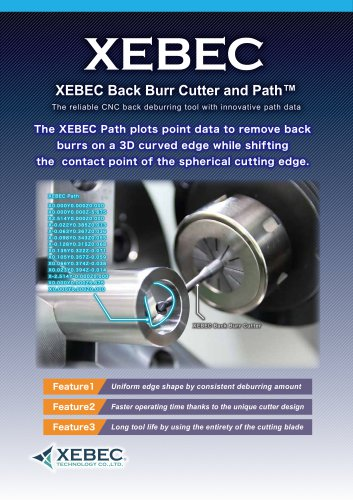 XEBEC Back Burr Cutter and Path