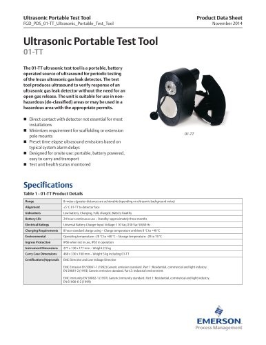01-TT Ultrasonic Portable Test Tool